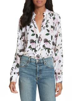 Equipment Liana Floral Print Silk Blouse