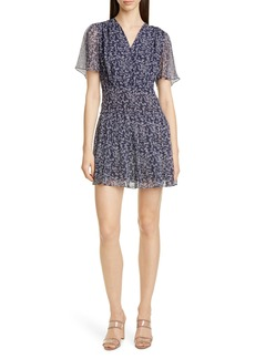 Equipment Lisle Ditsy Print Silk Dress