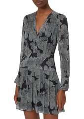 Equipment Lisle Printed Silk Mini Dress