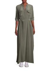 Equipment Long Silk Shirt Dress