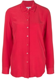 Equipment long sleeved loose blouse - Red