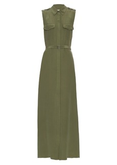 Equipment Major sleeveless silk maxi dress
