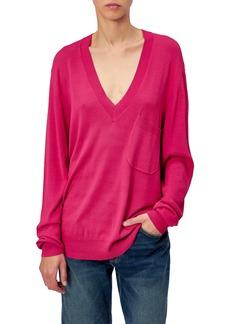 Equipment Marrim Pocket V-Neck Sweater