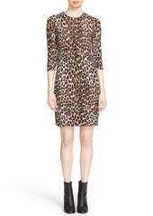 Equipment 'Marta' Leopard Print Silk & Cashmere Knit Dress
