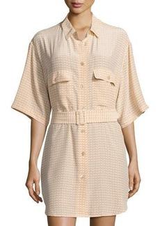 Equipment Matteo Printed Silk Shirtdress