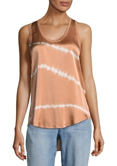 Equipment Mel Striped Silk Tank Top