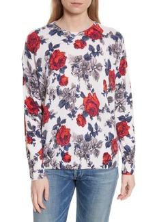 Equipment Melanie Flower Print Cashmere Sweater