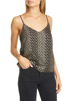 Equipment Metallic Detail Silk Blend Camisole