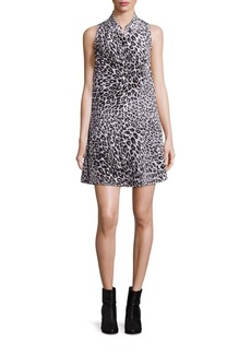 Equipment Mina Leopard Shirt Silk Dress
