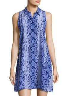 Equipment Mina Snakeskin-Print Silk Dress