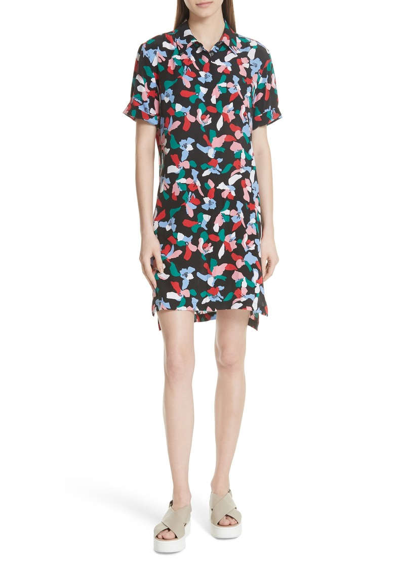Equipment Mirelle Floral Silk Shirtdress