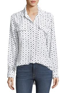 Equipment Moon & Stars Button-Front Print Signature Silk Shirt