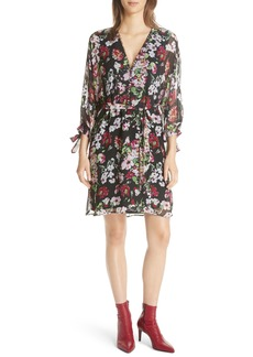 Equipment Natasha Floral Print Silk Dress