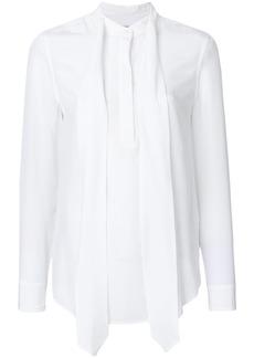 Equipment neck tie detail blouse - White