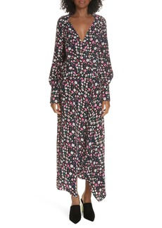 Equipment Neema Floral Faux Wrap Dress