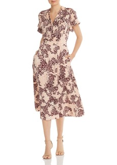 Equipment Orlenna Printed Silk-Blend Dress