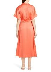 Equipment Orlenna Silk Blend Midi Shirtdress