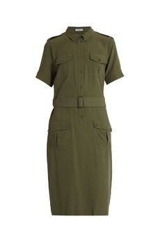 Equipment Petra short-sleeved silk shirtdress