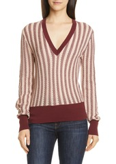 Equipment Pierette Silk & Cotton V-Neck Sweater