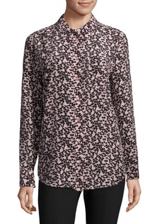 Equipment Reese Printed Silk Blouse