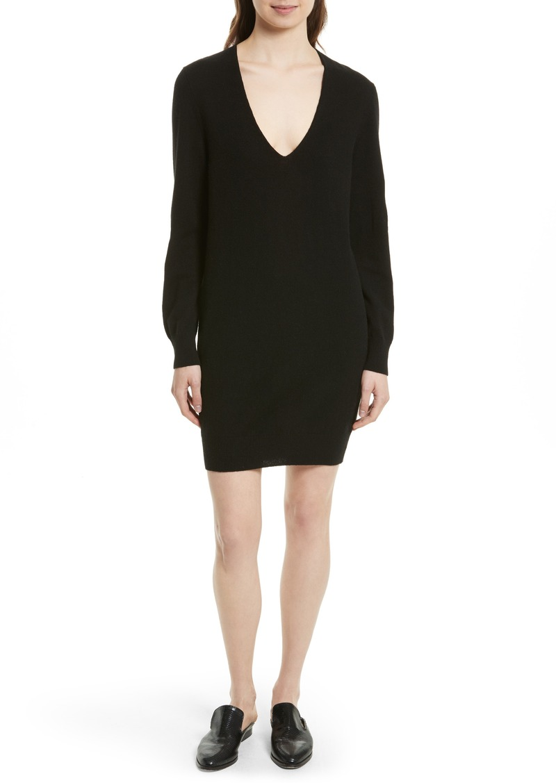 Equipment Equipment Rosemary V-Neck Cashmere Sweater Dress ...