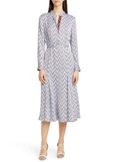 Equipment Sabenne Long Sleeve Silk Shirtdress