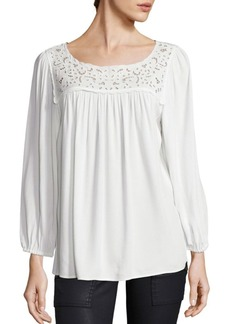 Joie Sagrada Rayon Pleated Blouse