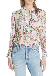 Equipment Samine Floral Silk Chiffon Blouse