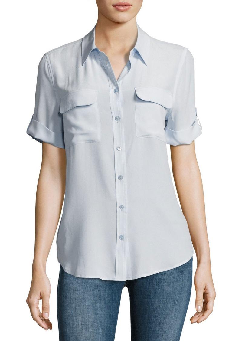 Equipment equipment short sleeve slim signature silk for Equipment signature silk shirt
