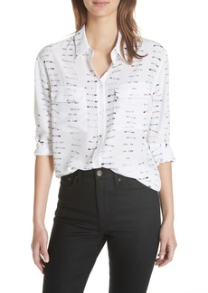 Equipment Signature Button-Down Silk Shirt