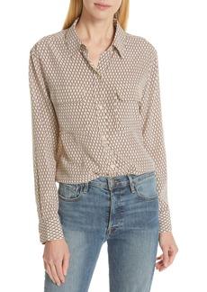 Equipment Signature Button Front Silk Shirt