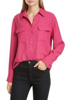 Equipment Signature Flap Pocket Satin Shirt