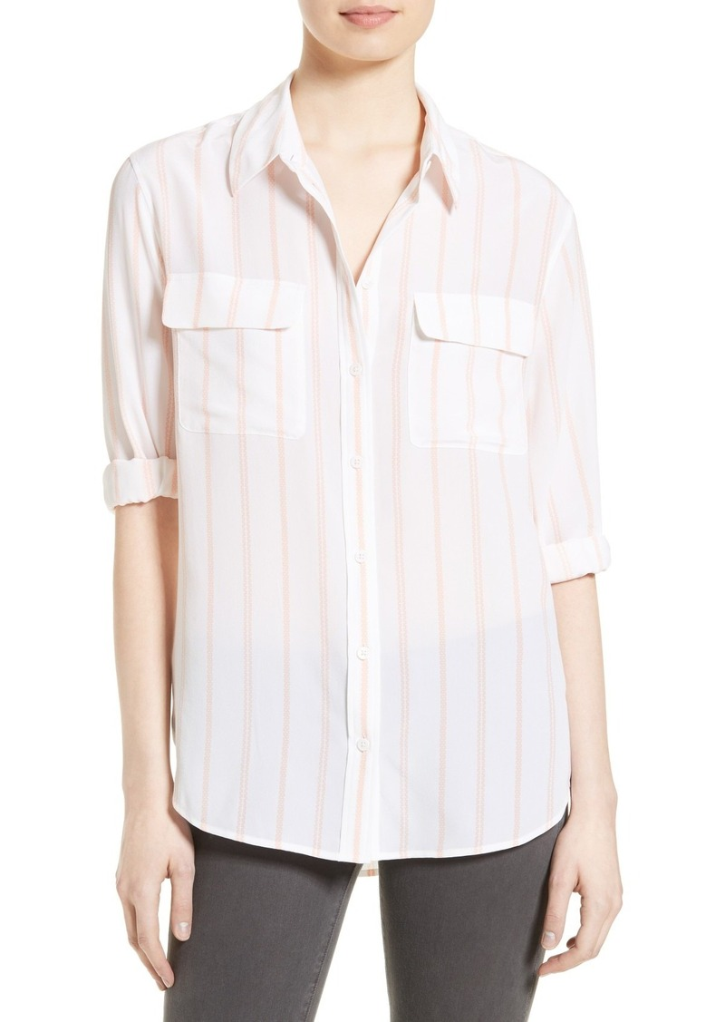 equipment equipment signature stripe silk shirt casual