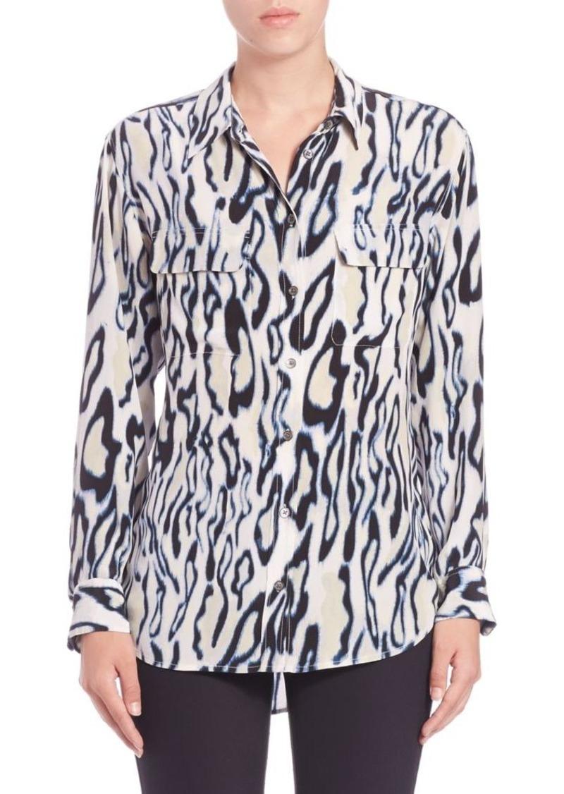 Joie Silk Cheetah-Print Shirt
