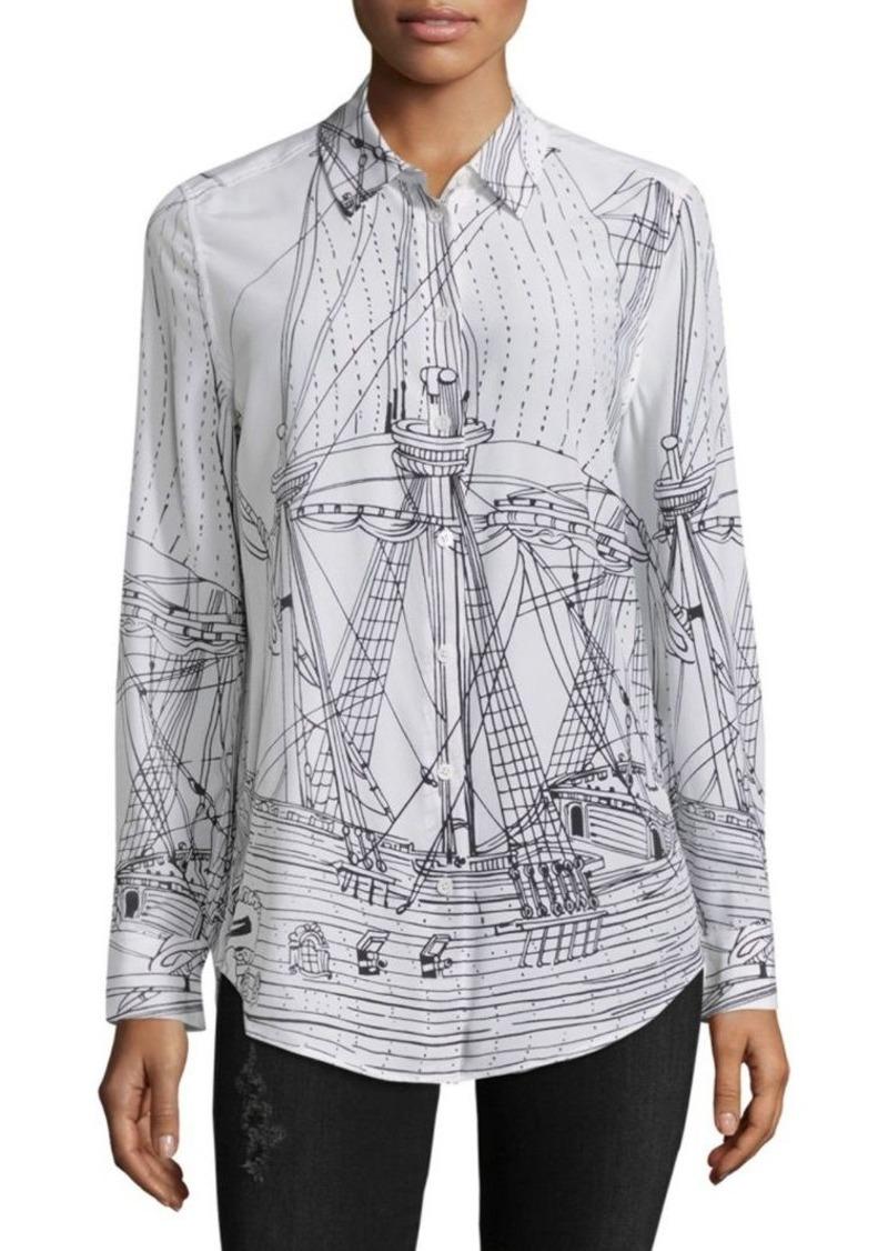 Equipment Equipment Silk Graphic Print Shirt Casual Shirts