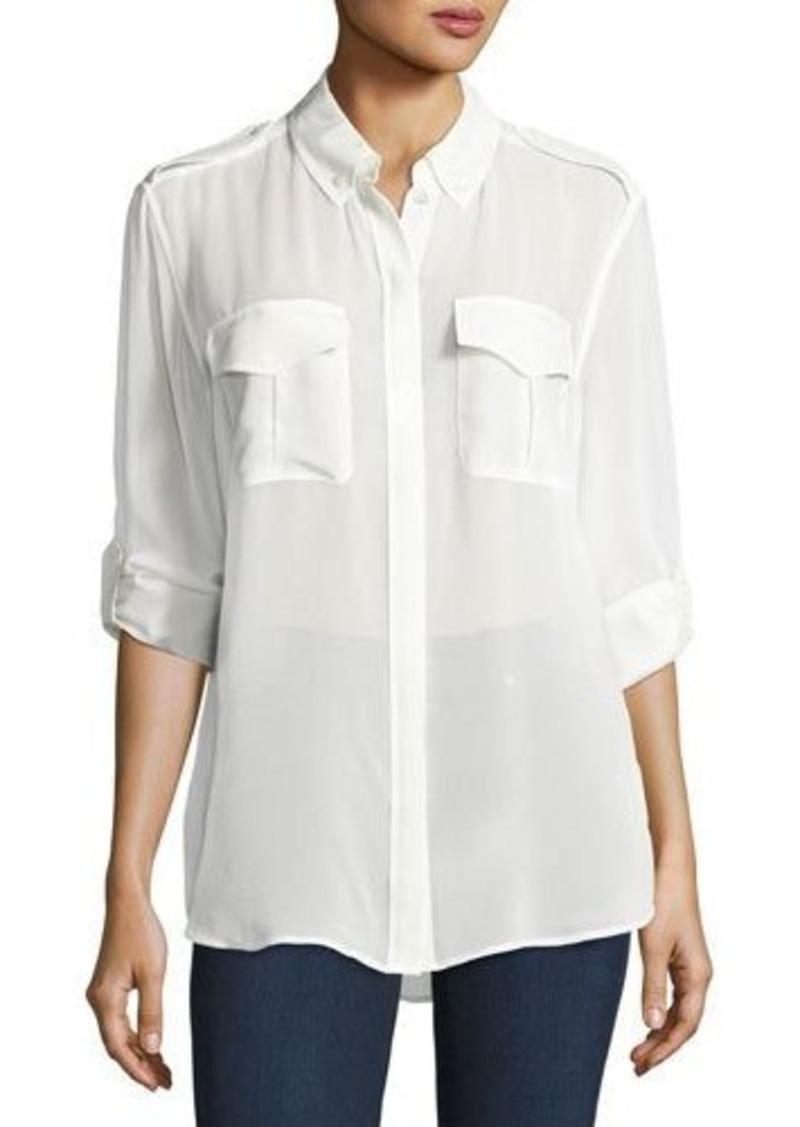 Equipment Silk Slim Signature Long-Sleeve Shirt