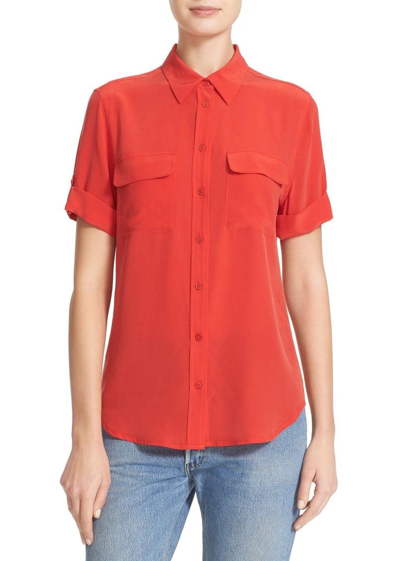 073388997faf9 Equipment Equipment Slim Signature Short Sleeve Silk Shirt