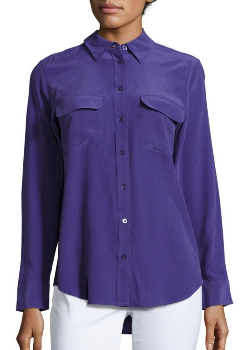 Equipment equipment slim signature silk shirt casual for Equipment signature silk shirt