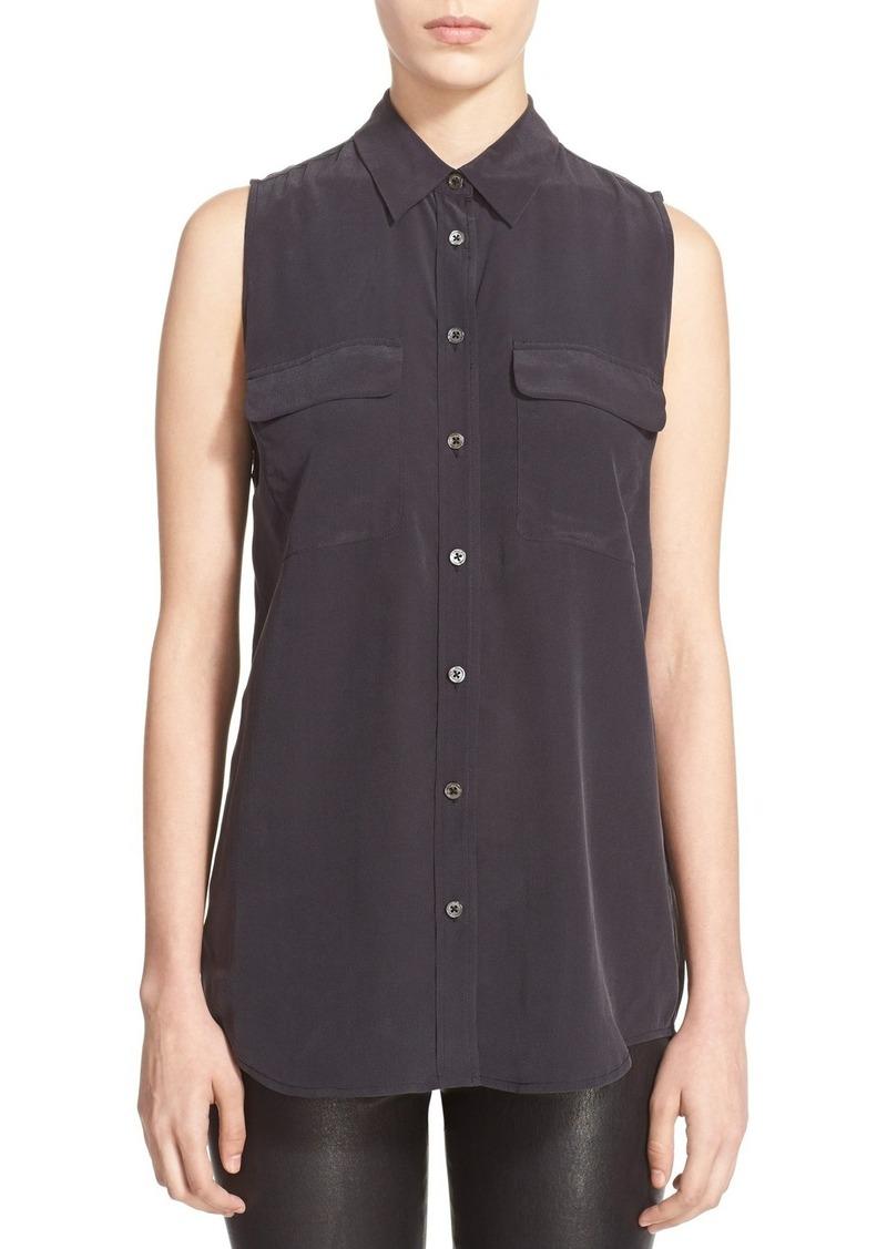 Equipment 'Slim Signature' Sleeveless Silk Shirt