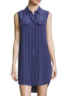 Equipment Slim Signature Sleeveless Striped Shirtdress