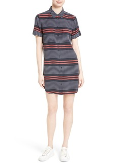Equipment Slim Signature Stripe Silk Shirtdress