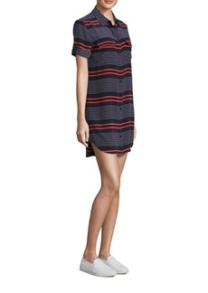 Equipment Slim Signature Striped Silk Shirtdress