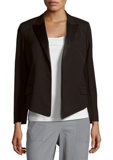 Equipment Solid Open-Front Wool-Blend Jacket