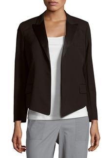 Equipment Solid Open-Front Wool-Blend Jacket