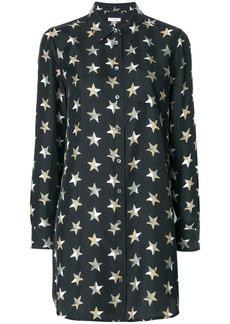 Equipment star print shirt dress - Black