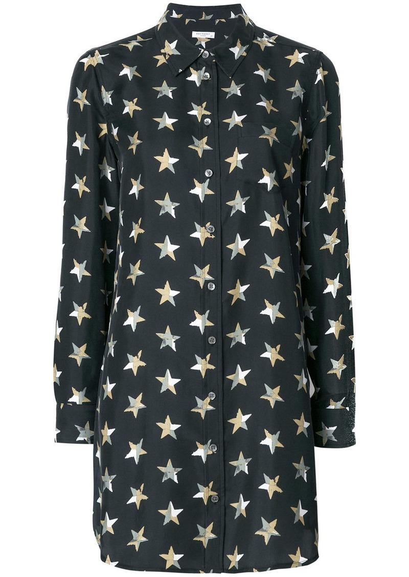 98dfe511cb9034 Equipment Equipment star print shirt dress - Black Now $358.00
