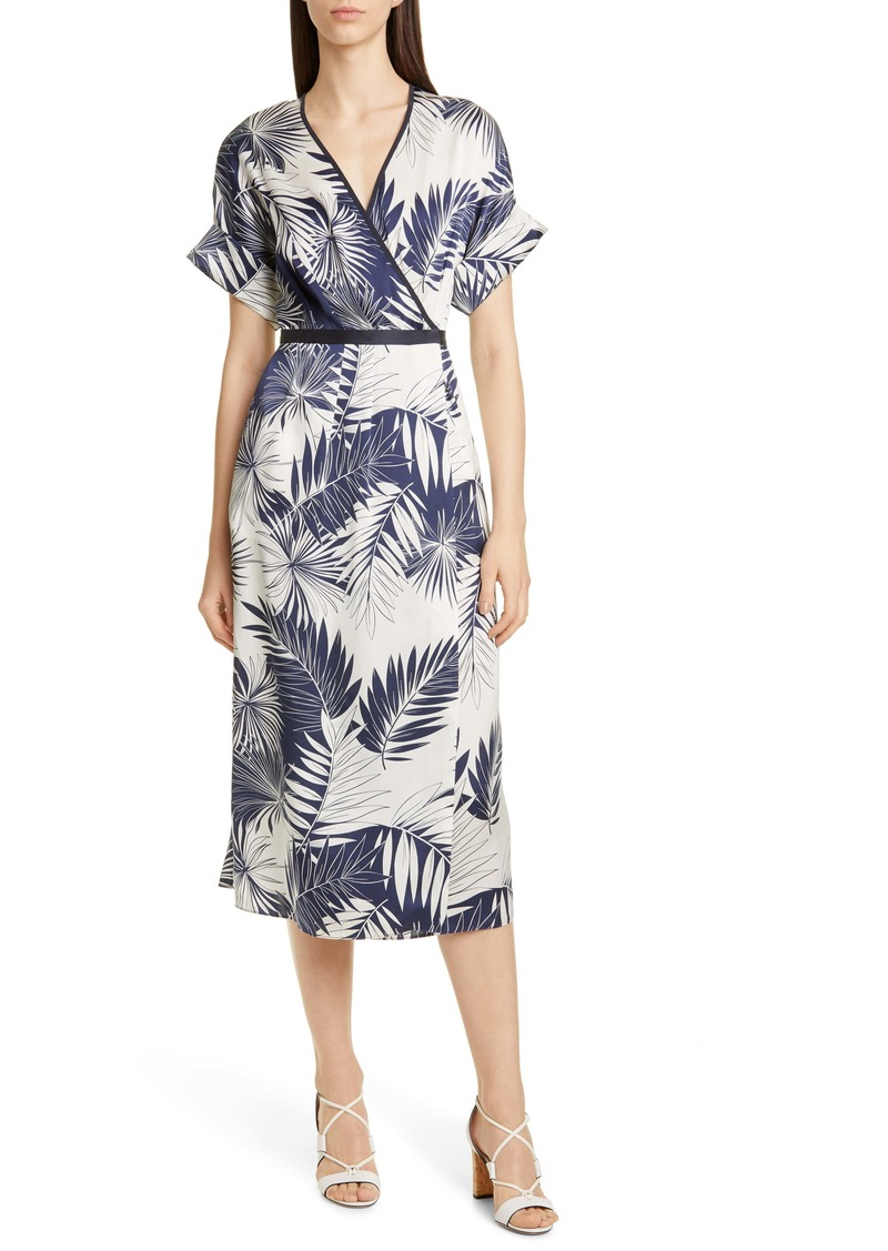 Equipment Tavine Short Sleeve Silk Wrap Dress
