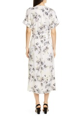 Equipment Tavine Silk Midi Dress