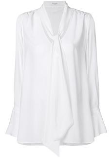 Equipment tie neck long sleeved blouse - White