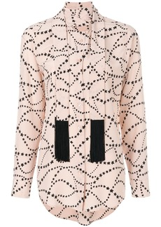Equipment tie neck star patterned blouse - Nude & Neutrals